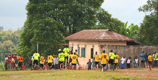 Soccer Game in Ghana on a service trip