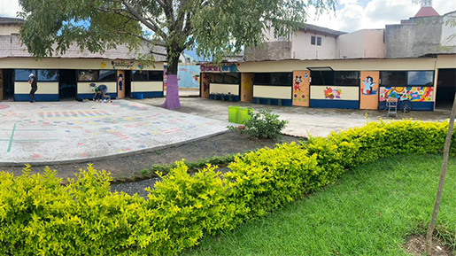 Classroom in India at the Young Dreamer Academy